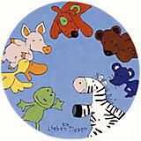 Kinderteppich Die Lieben Sieben, 130 cm rund, blau