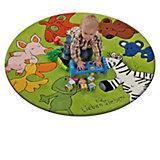Kinderteppich Die Lieben Sieben, 130 cm rund, grün
