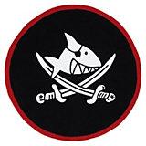 Kinderteppich Capt`n Sharky, 130 cm rund, schwarz