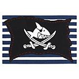 Kinderteppich Capt'n Sharky Piratenfahne gestreift
