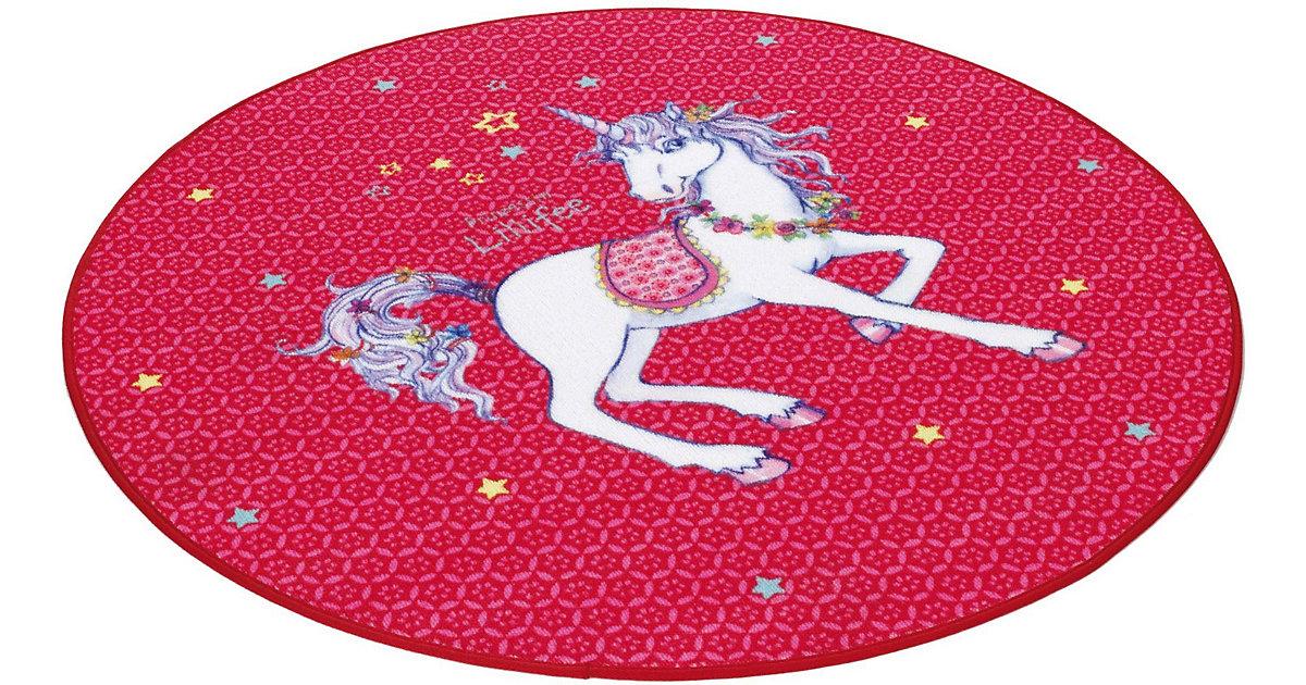 Kinderteppich Prinzessin Lillifee Einhorn rund pink Gr. 100