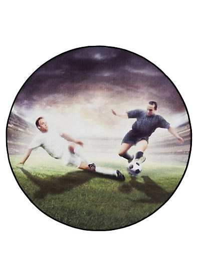Teppich Fußball Spieler rund, 100 cm, bunt myToys