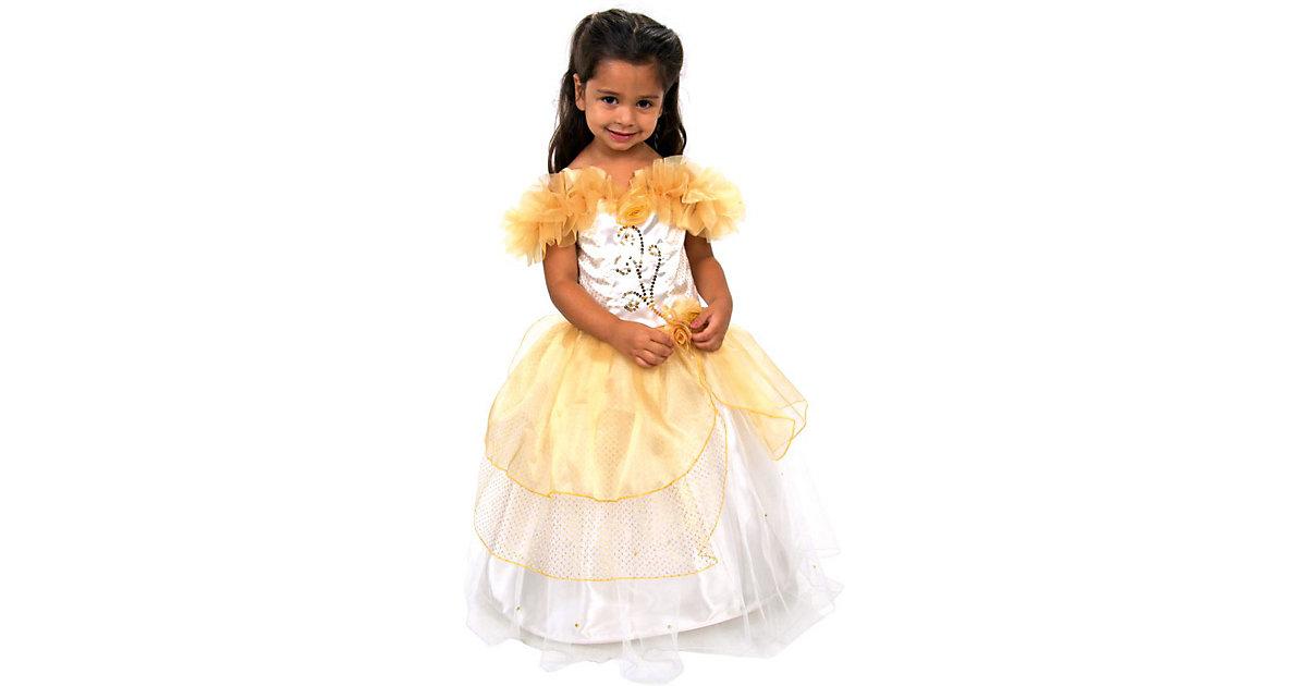 Kostüm goldene Prinzessin Gr. 128 Mädchen Kinder