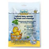 Натуральная детская губка для мытья и массажа, Babyline