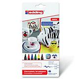 edding4200 Porzellan-Pinselstift Family, 6 Farben