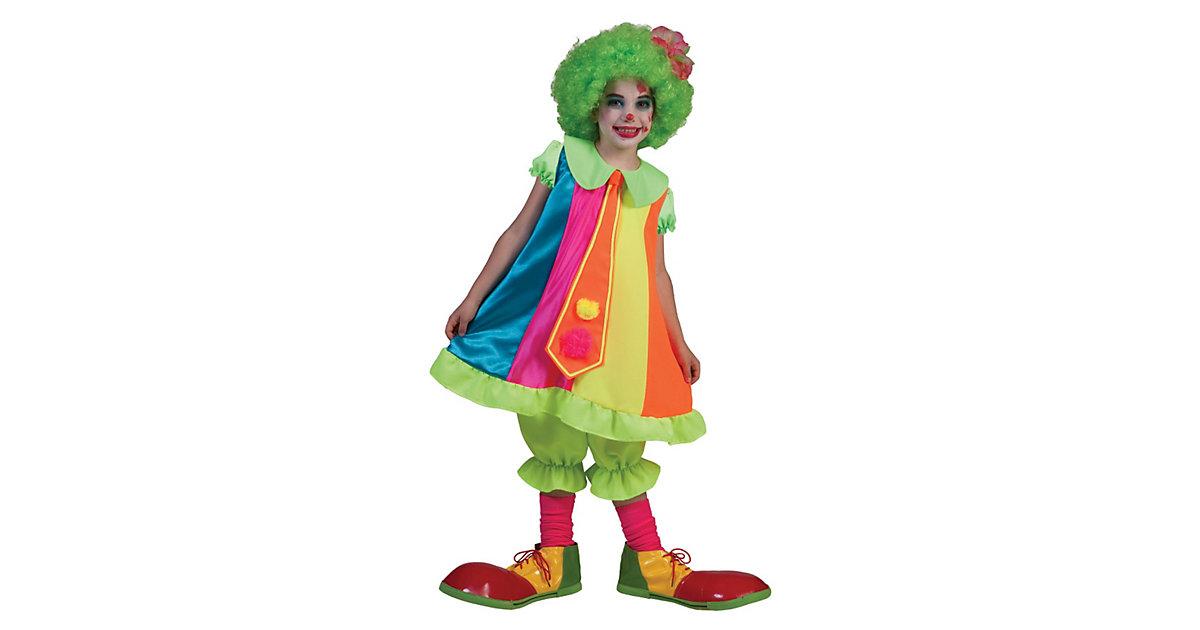 Kostüm Clown Mädchen Gr. 140 Mädchen Kinder