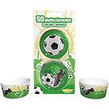 Papier-Backförmchen Fußball, 50 Stück