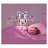 Wandlampe mit Wandstickern, Minnie Mouse, 51-tlg.