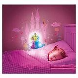 Wandlampe mit Wandstickern, Disney Princess, 51-tlg.