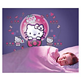 Wandlampe mit Wandstickern, Hello Kitty, 51-tlg.