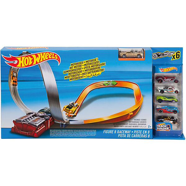 Hot Wheels FIG 8 RACEWAY W/5 CARS