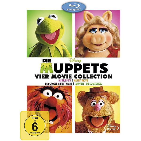 BLU-RAY Die Muppets - 4 Movie Collection