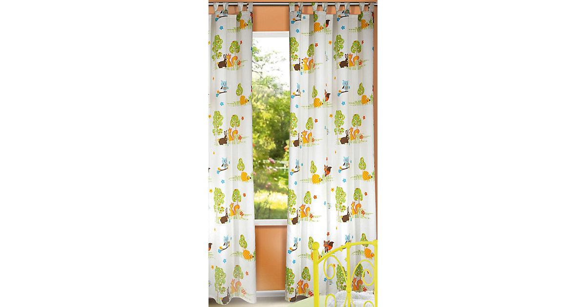 Vorhang Waldtiere, 245 x 135 cm, rosa (1 Schal)