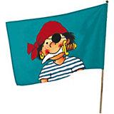Flagge mit Flaggenstock, Pirat Pit Planke