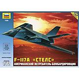 """Сборная модель самолета F-117 """"Стелс"""", Звезда"""