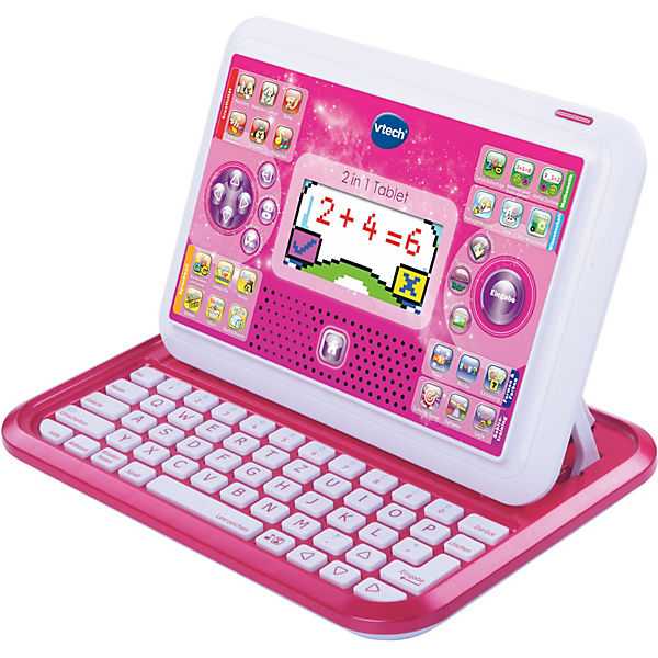 2-in-1 Tablet & Laptop, pink