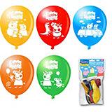 Набор воздушных шариков, 10шт, Свинка Пеппа
