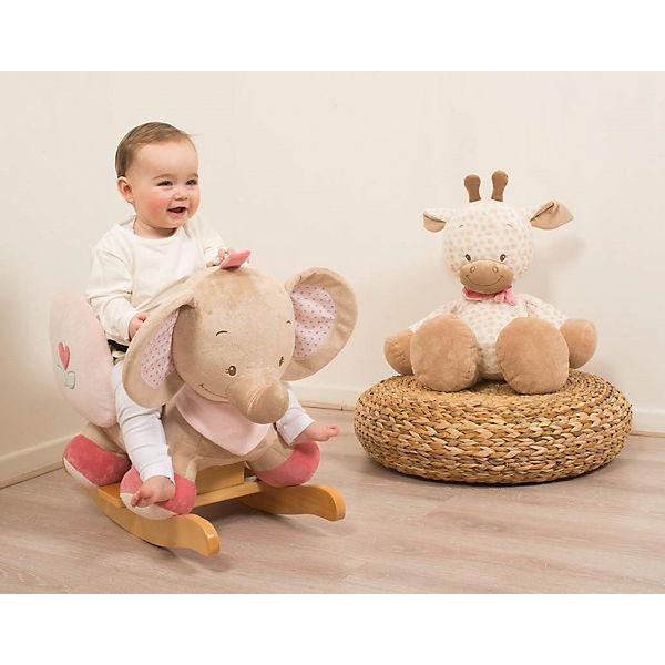 Schaukeltier elefant rose charlotte rose rosa nattou for Kinderzimmer charlotte