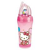 Стакан с крышкой и соломинкой (300 мл), Hello Kitty