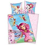 Kinderbettwäsche Mia & Me rosa, Renforcé, 135 x 200 cm
