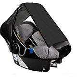 Sonnensegel für Babyschale UPF 50+ Schutz, schwarz