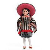 Kostüm Poncho und Mexikanerhut