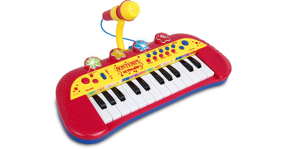 ICom Elektronik Keyboard mit 24 Tasten und Mikrofon
