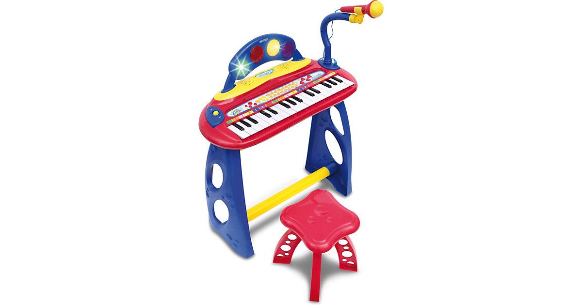Elektronik Keyboard mit 31 Tasten, Mikrofon und Hocker