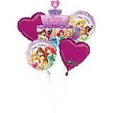 Folienballon-Bouquet Princess Birthday Cake