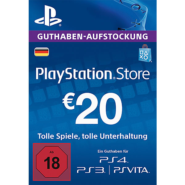 PS4 PlayStation Network Cards - 20 Euro