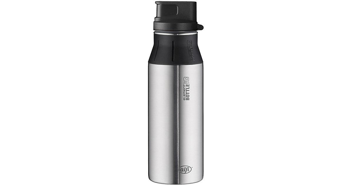 Trinkflasche elementBottle Pure Edelstahl, 600 ml silber