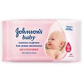 Влажные салфетки для самых маленьких без отдушки, Johnson`s baby, 64 шт.