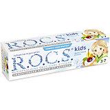 Детская зубная паста Фруктовый рожок, R.O.C.S. Kids, 3-7 лет, 45г.