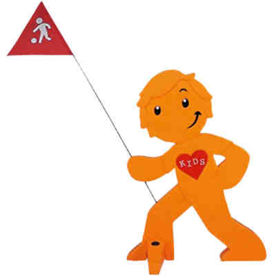 StreetBuddy Warnfigur für Kindersicherheit, orange