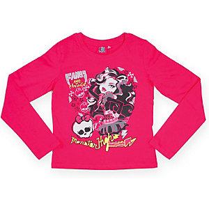 Футболка с длинным рукавом для девочки Monster High - розовый