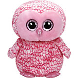 Beanie Boo Eule Pinky, 42 cm