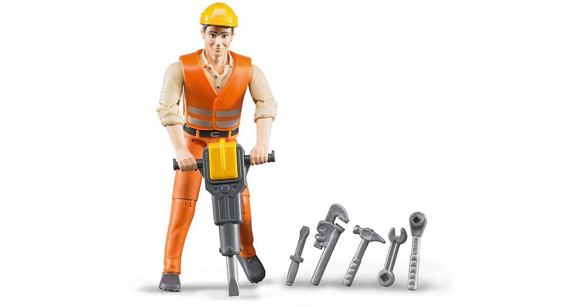 Bruder 60020 Profi-Serie bworld Bauarbeiter mit Zubehör 1:16