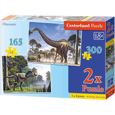 Puzzleset 165/300 Teile - Dinosaurier