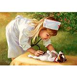 """Пазл """"Маленькая медсестра"""", 500 деталей , Castorland"""