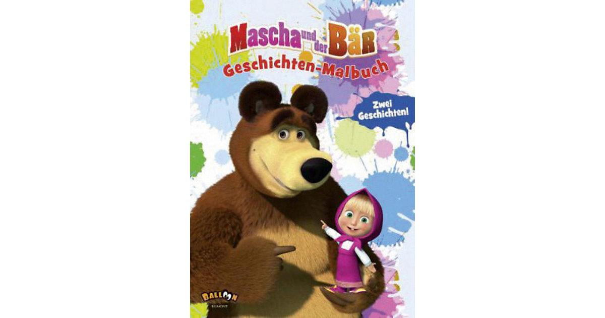 Buch - Mascha und der Bär: Geschichten-Malbuch
