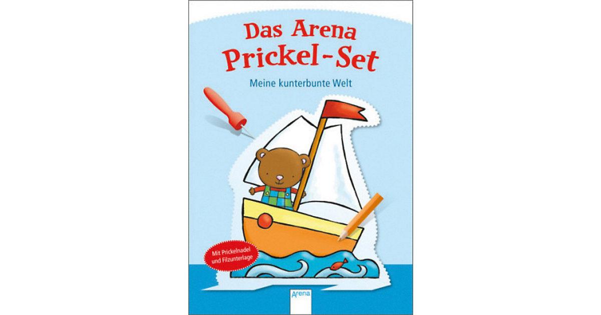 Buch - Das Arena Prickel-Set: Meine kunterbunte Welt