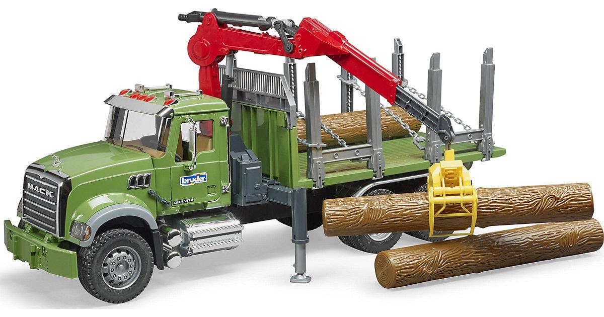 02824 Mack LKW Holztransporter mit Greifer 60cm