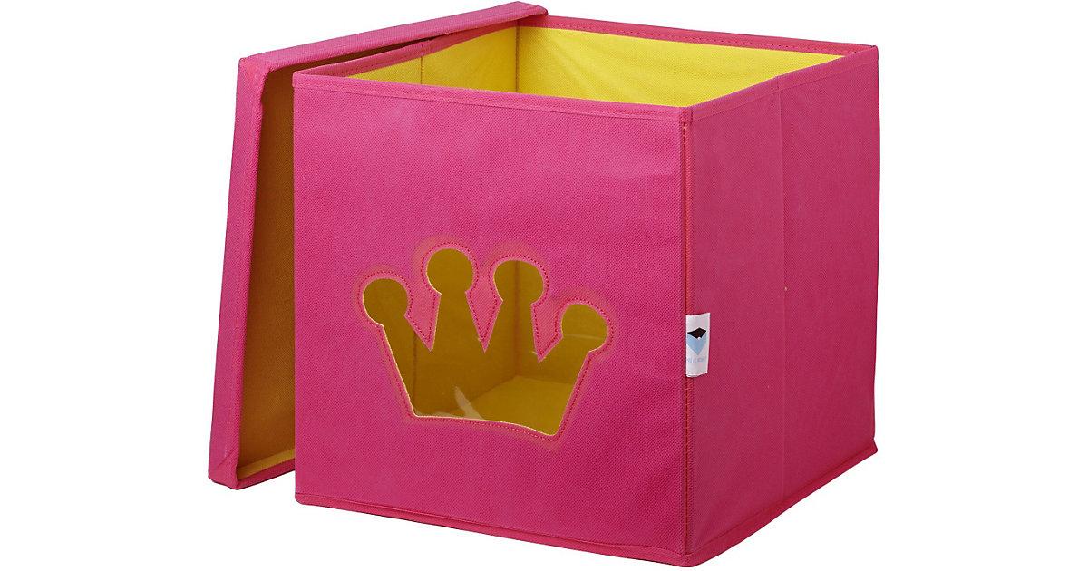 Aufbewahrungsbox Krone, rosa pink