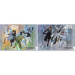 """Альбом для рисования А4 """"Война клонов"""", 16л, Звездные войны"""