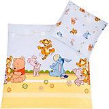 Babybettwäsche Baby Pooh and Friends, blau, 80 x 80 cm
