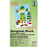 Moosgummi Mosaik Weihnachtself