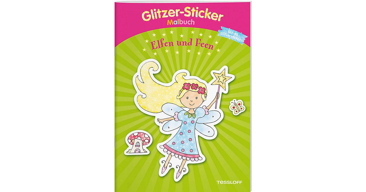 Buch - Glitzer-Sticker-Malbuch - Elfen und Feen