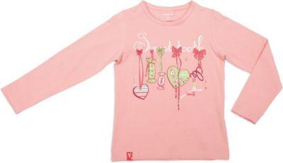 Футболка для девочки с длинным рукавом PlayToday - розовый