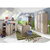 Komplett Kinderzimmer BAMBI, 3-tlg. (Kinderbett, Wickelkommode, Kleiderschrank 3-trg.), Eiche sägerau/weiß