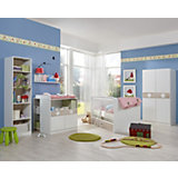Komplett Kinderzimmer KIMBA, 3-tlg. (Kleiderschrank 2-trg., Kinderbett, Wickelkommode), Eiche sägerau/alpinweiß